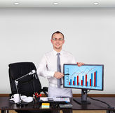 Businessman standing in office Royalty Free Stock Image