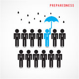 Businessman standing out from the crowd. Business idea and prepa Royalty Free Stock Photo