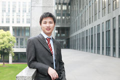 Businessman  is standing outdoor Stock Photo
