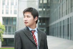 Businessman  is standing outdoor Stock Photo