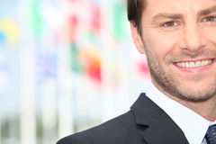 Businessman standing outside Stock Photos