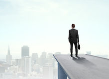Businessman standing on pier Royalty Free Stock Images