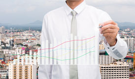 Businessman standing posture hand hold a pen Royalty Free Stock Images