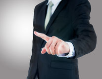 Businessman standing posture show hand  Stock Photography