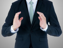 Businessman standing posture show hand  Stock Image