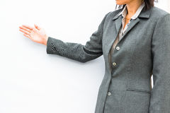 Businessman standing posture show hand Royalty Free Stock Photo