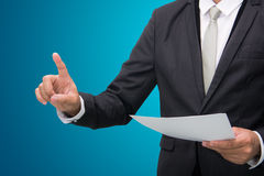 Businessman standing posture touch hand  Royalty Free Stock Photography