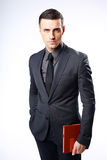 Businessman standing with tablet computer Royalty Free Stock Photography