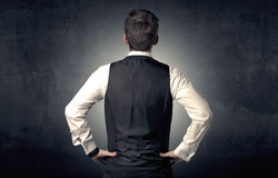 Businessman standing and thinking Royalty Free Stock Image