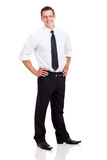 Businessman standing on white Royalty Free Stock Image