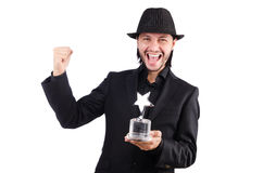 Businessman with star award Stock Photos
