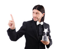 Businessman with star award Royalty Free Stock Photography