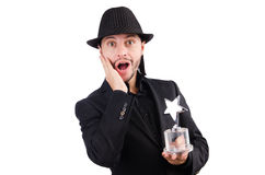 Businessman with star award Stock Images