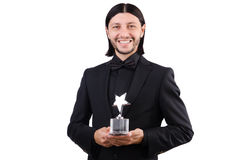 Businessman with star award Royalty Free Stock Photos