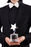 Businessman with star award Stock Photo