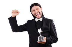 Businessman with star award Stock Image