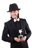 Businessman with star award isolated Royalty Free Stock Photography