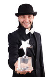 Businessman with star award isolated Stock Image