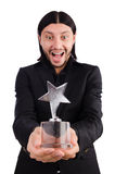 Businessman with star award isolated Royalty Free Stock Images