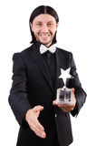 Businessman with star award Royalty Free Stock Images