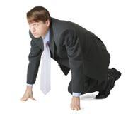 Businessman at start Stock Photo