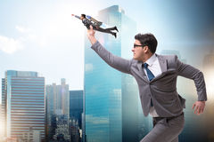 The businessman in start up business concept Stock Images