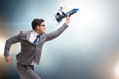 The businessman in start up business concept Stock Photo