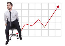 Businessman in start up on trend Royalty Free Stock Photography
