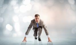 Businessman at start Royalty Free Stock Image