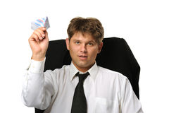 The businessman the starting paper plane Royalty Free Stock Images