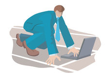 Businessman_starting_post Royalty Free Stock Image