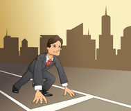 Businessman starting the race to success 4 Royalty Free Stock Photography