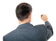Businessman starts sketching Royalty Free Stock Images