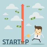 Businessman on startup business concept Royalty Free Stock Photo