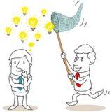 Businessman stealing ideas stock illustration