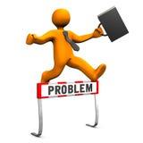 Businessman Steeplechase Problem Royalty Free Stock Photos
