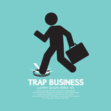 Businessman Step On A Business Trap Stock Images