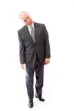 Businessman sticking out his tongue Stock Photography
