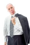 Businessman sticking out his tongue Stock Image