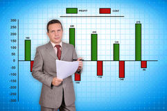 Businessman and stock chart Stock Photo