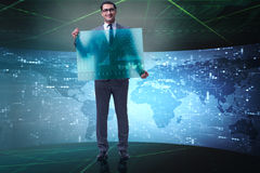 The businessman in stock exchange trading concept Stock Image