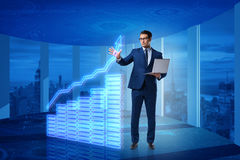 The businessman in stock exchange trading concept Royalty Free Stock Image