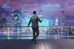 The businessman in stock trading concept Stock Photography