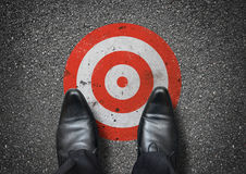 Businessman Stood On A Target Royalty Free Stock Images