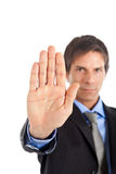 Businessman stop Stock Images