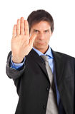 Businessman stop Stock Photography