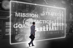 The businessman in strategic planning concept. Businessman in strategic planning concept stock photos