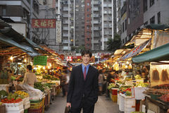 Businessman At Street Market Stock Images