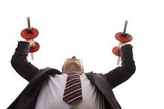 Businessman strength Royalty Free Stock Photos