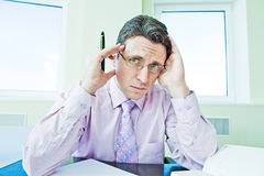 Businessman in stress Royalty Free Stock Photo